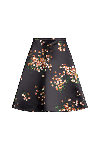 skirt printed skirt black