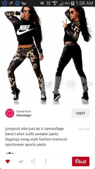 jumpsuit camouflage nike