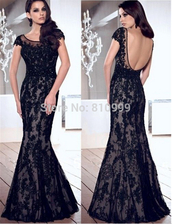 black evening dresses,mermaid evening dress,evening dress,sexy evening dresses,backless evening dress,lace evening dress,woman dress