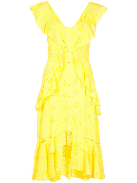 dress women cotton yellow orange