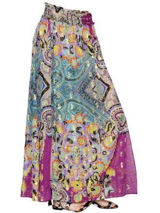 skirt silk multicolor