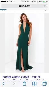 dress,green,maxi dress,long dress,prom dress,green dress,style,pretty dress!,dark green,long prom dress