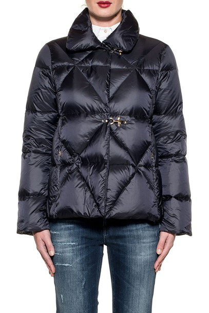 FAY jacket down jacket quilted blue