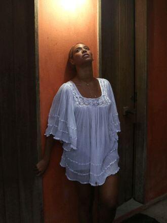 dress beyoncé boho summer outfits summer dress white dress