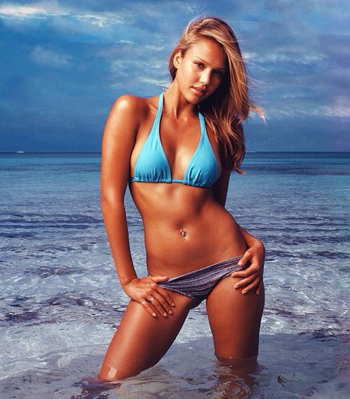 jessica alba swimwear bikini two-piece mix and match