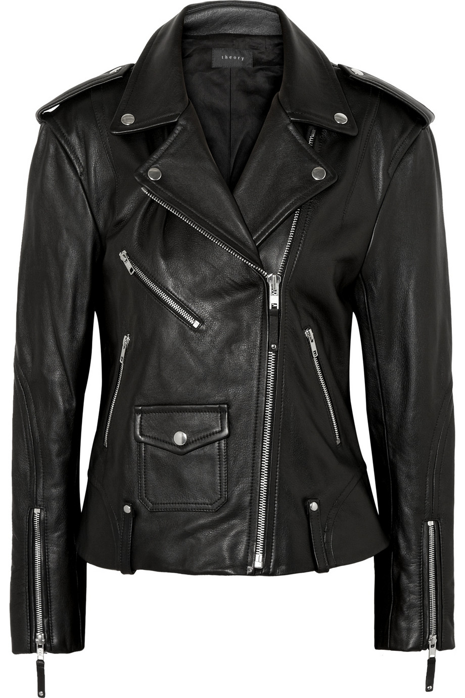 Dalayan leather biker jacket | Theory | 55% off | THE OUTNET