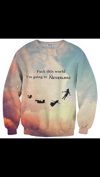 sweater peter pan neverland