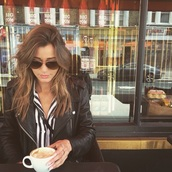 sunglasses,white,black,eleanor calder,acne studios,rayban,style,silk,jacket