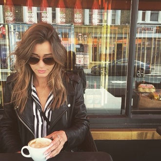 sunglasses white black eleanor calder acne studios rayban style silk jacket