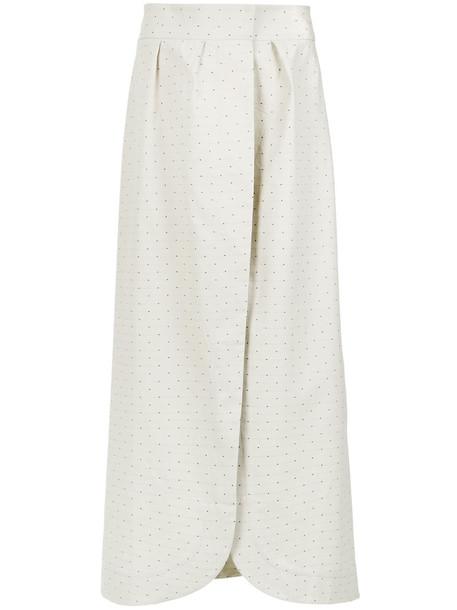 skirt polka dot skirt women white cotton