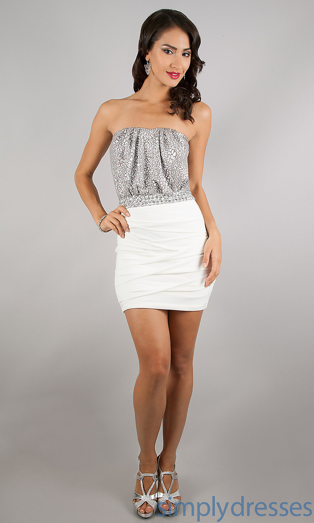 Strapless Short dress Trendy Style, Strapless Sexy dress Shop Online