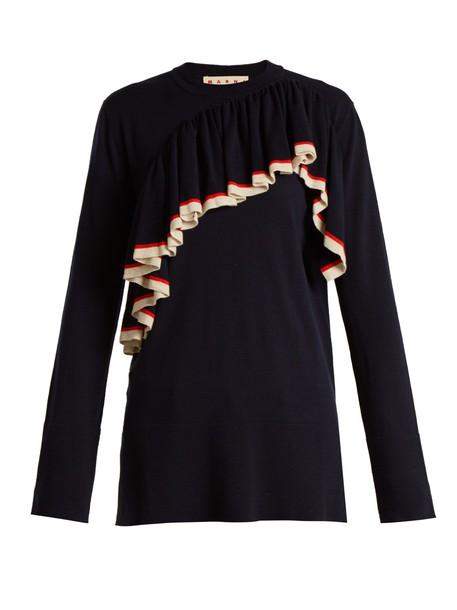 sweater wool knit navy