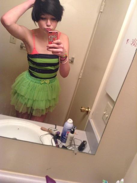 skirt green cute