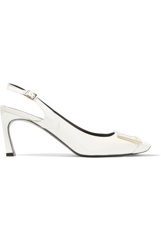 iridescent pumps leather shoes