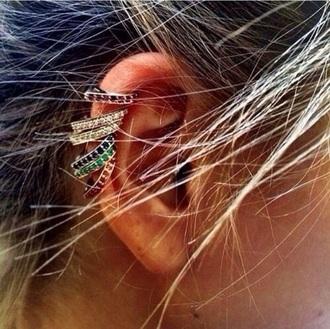 jewels earrings piercing rhinestones crystal rhinestone wedding dresses sexy tumblr tumblr girl instagram gold colorful diamonds