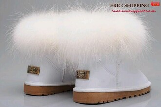 shoes ugg boots australian brand boots fur white uggs furry uggs footwear new soft white cocane exotic white furry boots fashion new-season look style soft shoes