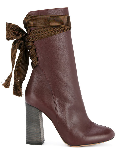 women leather brown shoes