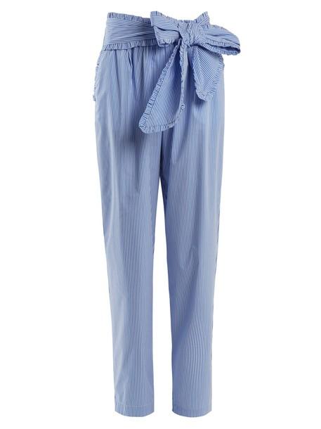 MSGM cotton blue pants