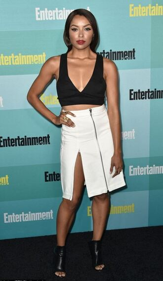skirt top slit skirt kat graham plunge v neck comic con