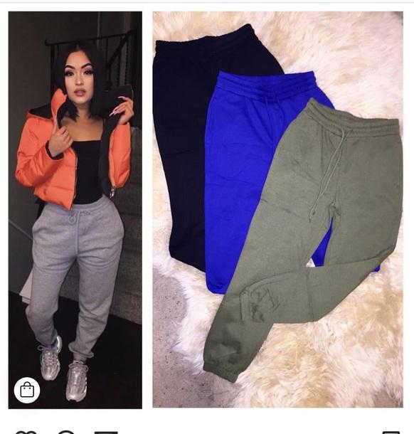 pants joggers comfy casual cute sweatpants grey sweatpants grey