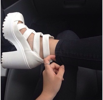 shoes white heels high heels white shoes