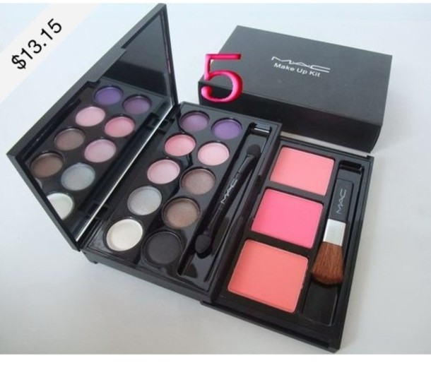 nail polish make-up mac cosmetics blush eye shadow box