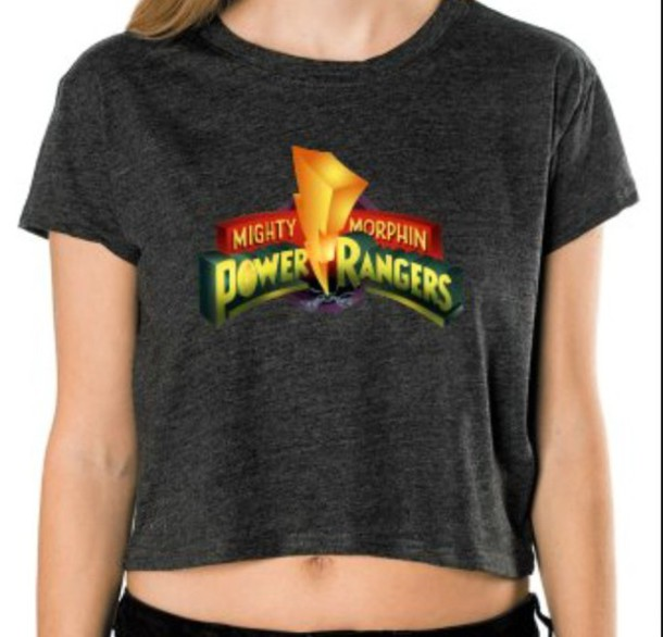 shirt power rangers crop tops
