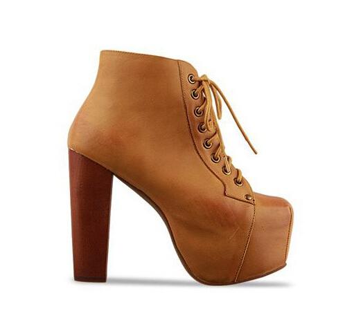 Botines zapatos de tacón alto de la moda de invierno corto sexy arranque hebilla de piel caliente mujeres bombea el envío libre 2014 venta caliente en botas de calzado en aliexpress.com