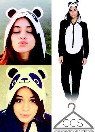 pajamas panda black and white