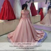 dress,arabic prom dresses,3d floral appliques prom dresses,long modest prom dresses,blush prom dresses,2016 formal evening dresses,middle east prom dresses,vintage lace prom dresses,2016 new design evening dresses