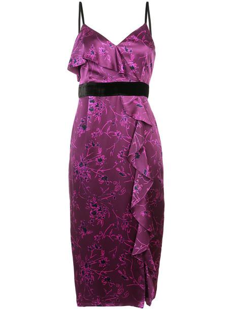 Cinq a Sept dress pencil dress women silk purple pink
