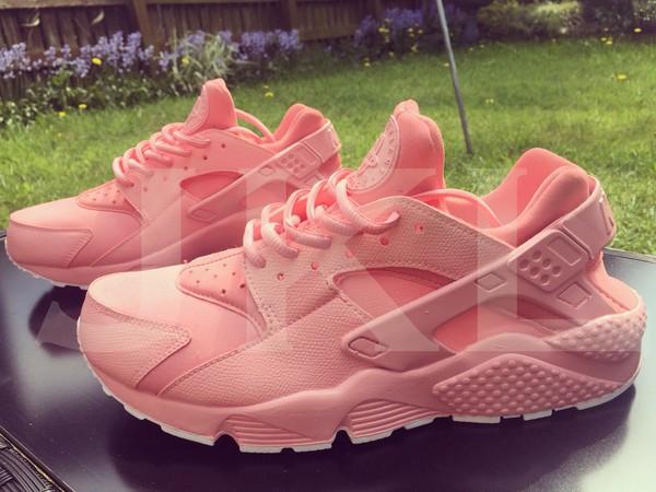 Nike petal pink Air Huarache custom.