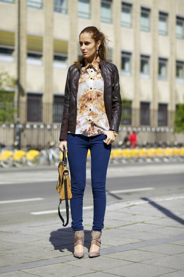 from brussels with love jeans shirt shoes jacket bag