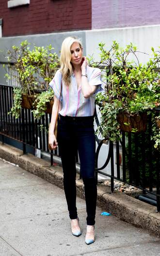 yael steren blogger bag top jeans shoes jewels make-up nail polish