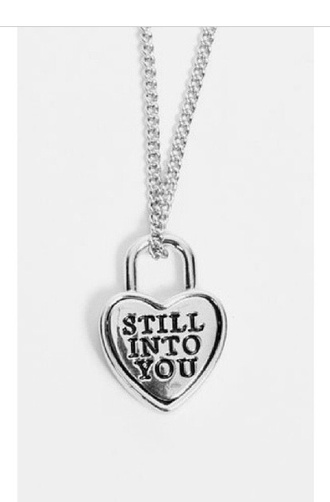 jewels still into you music necklace chain heart heart jewelry padlock love paramore bands love quotes