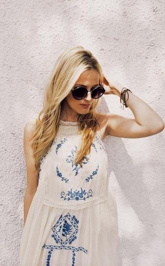 dress boho boho chic boho dress hippie gypsy dress gypsy fashion outfit summer dress style summer embroided