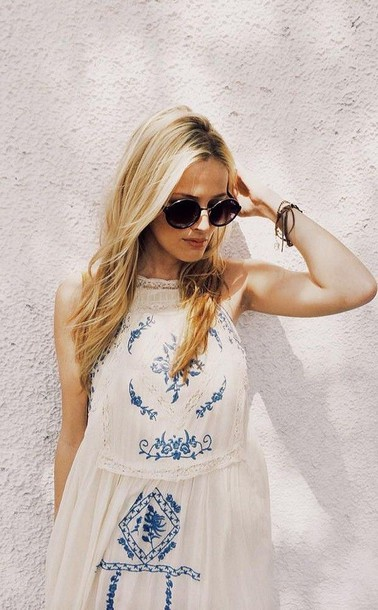 dress boho boho chic boho dress hippie gypsy dress gypsy fashion outfit summer dress style summer embroided