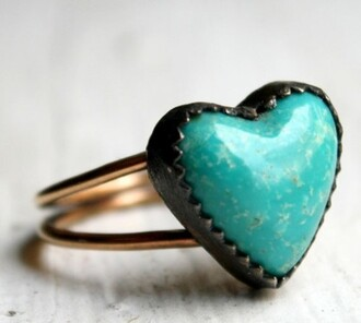 ring heart ring blue