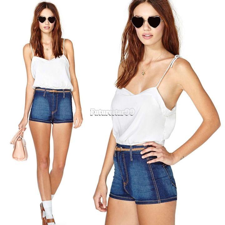 Frauen Sexy Spaghetti Short Vest Tops Rückenfrei Lässige Tank Top Shirt Weiß | eBay