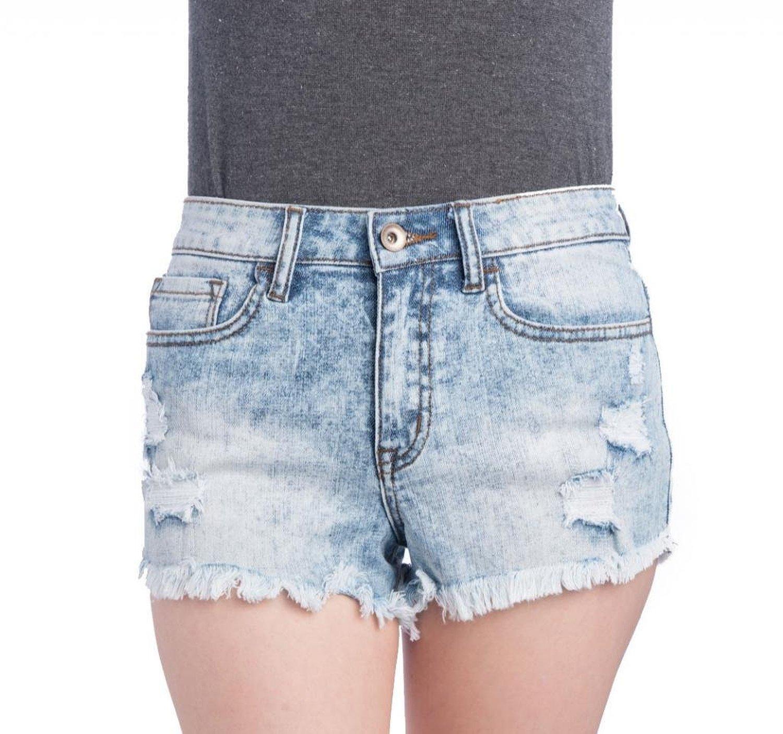 Klique b women's high waisted denim shorts
