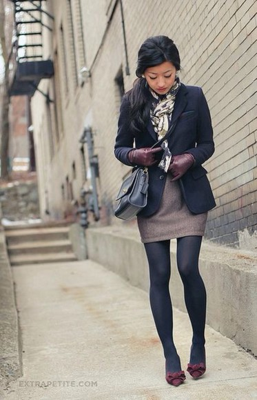 black coat black bag
