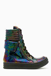 shoes,sneakers,galaxy print,platform shoes,oil,high top sneakers,high tops,cute high tops!,clothes,cute,street,sesame street