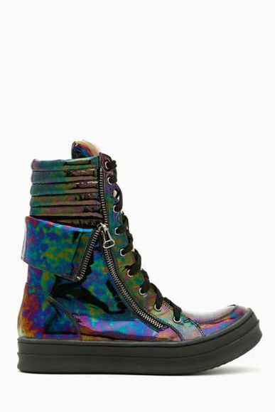 shoes nastygal sneakers galaxy sea of shoes platform shoes oil high top sneaker high tops cute high tops! clothing clothes cute streetstyle street sesame street