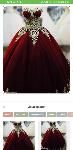 dress red gold prom dress quinceanera dress gown red dress gold detail strapless dress strapless prom dress long red quinceanera dress