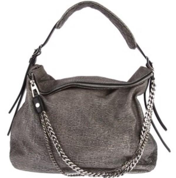 bag grey chain chain bag