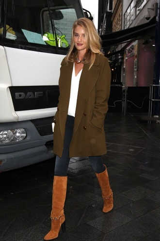 coat boots rosie huntington-whiteley shoes