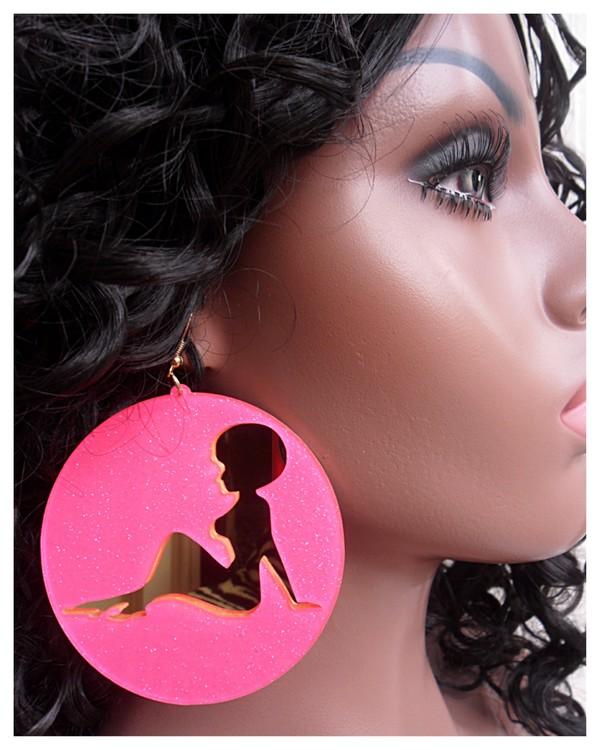 jewels pink earrings disc earrings diva mirror earrings basketball wives gold earrings african american