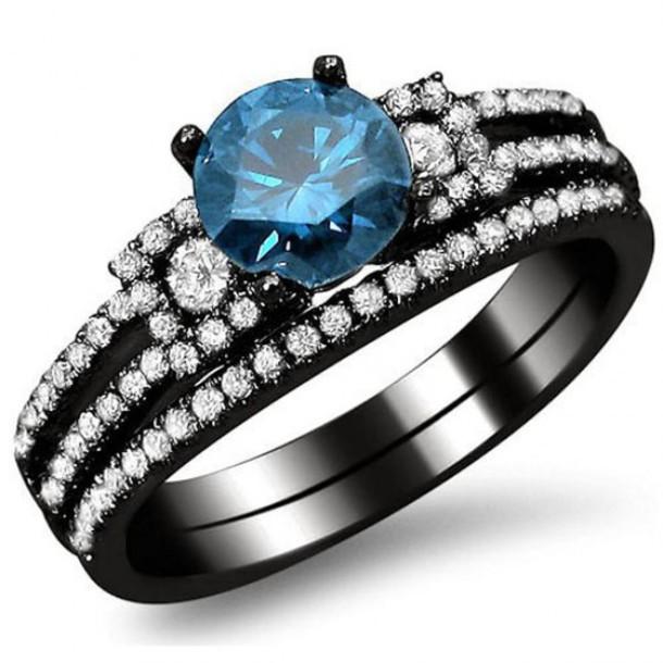jewels evolees evoleescom white diamond side stones round blue