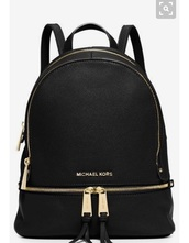 bag,michael kors,black,gold,tote bag,pack back,school bag