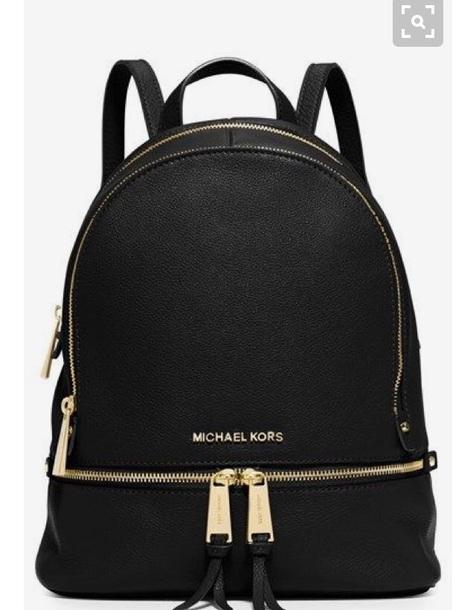 1bc8c9f929e02 bag michael kors black gold tote bag pack back school bag